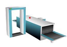 Служба безопасности аэропорта иллюстрация вектора