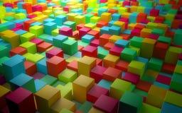 Абстрактные цветастые кубики Стоковое фото RF