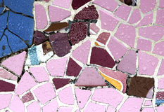 Случайная картина мозаики - Gaudi Стоковое Фото
