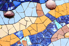 Случайная картина мозаики - Gaudi Стоковое Изображение RF