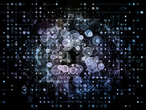 Случайная решетка цифров Стоковое Фото