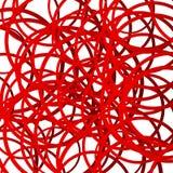 Случайные линии squiggle, пересекая случайные круги Scribble, животики иллюстрация штока