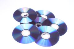 Случайные компактные диски Стоковое фото RF