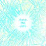 Случайные красочные линии Современные графики, космос для текста Бирюза, желтые цвета Красочные карточки, рогулька, приглашение Стоковое Изображение