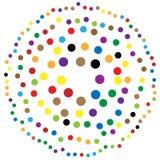 Случайные круги, точки резюмируют элемент, круглую форму иллюстрация вектора