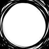 Случайные круги scribble Концентрические круги в styl нарисованном рукой Стоковые Изображения