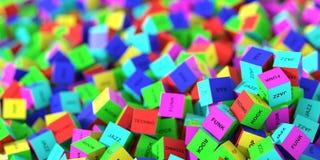 Случайные кубы музыки Стоковое Изображение RF