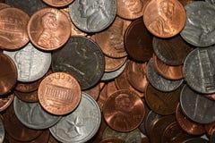 Случайные монетки Стоковые Изображения RF