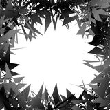 Случайные нервные формы на ` s художественного произведения окаймляются Рамка Gometric, backgroun Стоковое фото RF