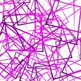 Случайные пересекая линии, квадраты Современное красочное геометрическое te Стоковые Фото