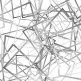Случайные пересекая линии, квадраты Современное красочное геометрическое te Стоковые Фотографии RF