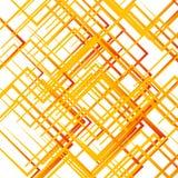Случайные пересекая линии, квадраты Современное красочное геометрическое te Стоковая Фотография RF