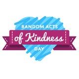 Случайные поступки эмблемы приветствию дня доброты стоковые фотографии rf
