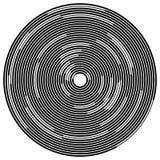 Случайные поделенные на сегменты круги/кольца Radial, излучая круговое ele бесплатная иллюстрация