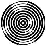 Случайные поделенные на сегменты круги/кольца Radial, излучая круговое ele Стоковые Фото