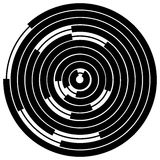 Случайные поделенные на сегменты круги/кольца Radial, излучая круговое ele иллюстрация штока