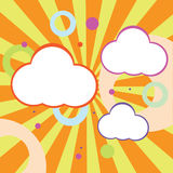 Случайные пушистые облака бесплатная иллюстрация