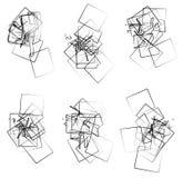 Случайные, разбросанные угловые элементы, формы иллюстрация вектора