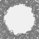 Случайные разбросанные формы Смогите быть использовано как рамка или предпосылка иллюстрация вектора