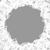 Случайные разбросанные формы Смогите быть использовано как рамка или предпосылка Стоковое Фото