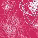 Случайные схематичные линии резюмируют monochrome предпосылку, картину Стоковые Изображения