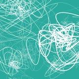 Случайные схематичные линии резюмируют monochrome предпосылку, картину иллюстрация штока