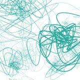 Случайные схематичные линии резюмируют monochrome предпосылку, картину Стоковая Фотография