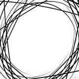 Случайные хаотические линии абстрактная текстура, картина в квадратном формате иллюстрация вектора