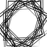 Случайные хаотические линии абстрактная текстура, картина в квадратном формате иллюстрация штока