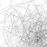 Случайные хаотические линии Пересекать нервные, угловые линии Стоковые Фото