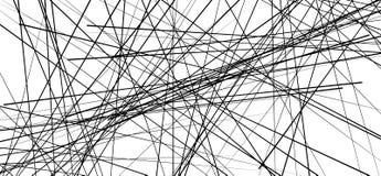 Случайные хаотические линии резюмируют геометрические картину/текстуру moder иллюстрация штока