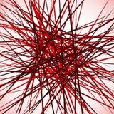 Случайные хаотические пересекая линии Абстрактный геометрический monochrome Стоковое фото RF
