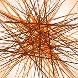 Случайные хаотические пересекая линии Абстрактный геометрический monochrome Стоковые Фото