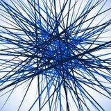 Случайные хаотические пересекая линии Абстрактный геометрический monochrome Стоковые Изображения