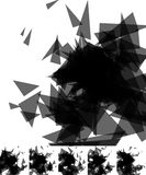 Случайные черепки, занозы резюмируют, художнические предпосылка/картина Стоковая Фотография