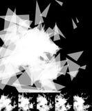 Случайные черепки, занозы резюмируют, художнические предпосылка/картина Стоковые Фотографии RF