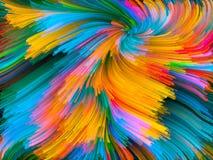 Случайный вортекс цвета Стоковое фото RF
