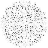 Случайный radial выравнивает влияние взрыва Излучающ нашивки круговые бесплатная иллюстрация