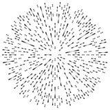 Случайный radial выравнивает влияние взрыва Излучающ нашивки круговые иллюстрация штока