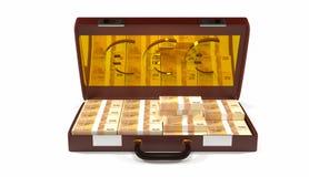 случай денег объекта 3d стоковые изображения rf