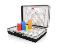 Случай с деньгами и диаграммой иллюстрация вектора