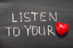 Слушайте к сердцу Стоковые Изображения