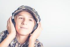 Слушайте к хорошей музыке Стоковые Фотографии RF
