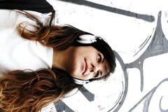 слушать к музыке Стоковое Фото