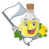 С флагом масло лимона полило внутри стекло мультфильма бесплатная иллюстрация