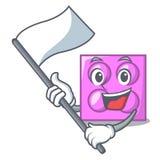 С шаржем талисмана кирпича игрушки флага бесплатная иллюстрация