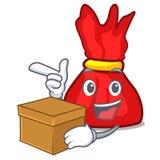 С шаржем характера конфеты оболочки коробки бесплатная иллюстрация