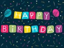 С днем рождения карточка Стоковая Фотография