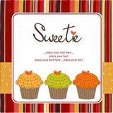 С днем рождения пирожня Стоковое Изображение