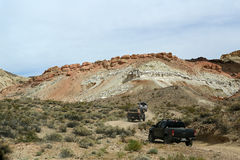 С roading в пустыне Калифорнии Стоковое Фото